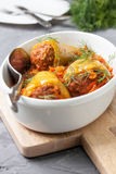 Peppers stuffed with tomato sauce Royalty Free Stock Photos