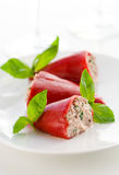 Peppers stuffed with tuna Stock Photography