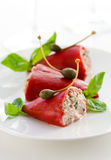 Peppers stuffed with tuna Royalty Free Stock Photography