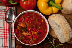Peppers Suppe Stockfoto