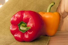 Peppers on the table Royalty Free Stock Image