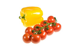 Peppers And Tomatoes Royalty Free Stock Photos