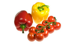Peppers And Tomatoes Stock Photo