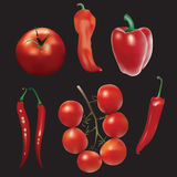 Peppers and tomatoes. Stock Photo