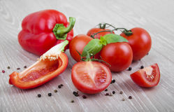 Peppers and tomatoes Royalty Free Stock Photography