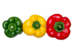 Peppers from the top Royalty Free Stock Photos