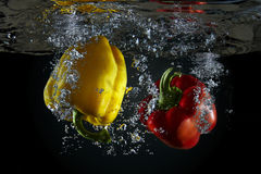 Peppers underwater Royalty Free Stock Photo