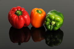 Peppers of Various Colors Royalty Free Stock Photography