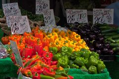 Peppers And Vegetables Royalty Free Stock Photography