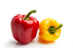 Peppers on white Royalty Free Stock Photography