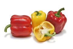 Peppers on a white background Stock Photography