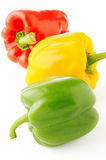 Peppers on white Stock Photos