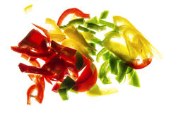 Peppers. On a white background Stock Image