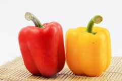 Peppers a white background royalty free stock image