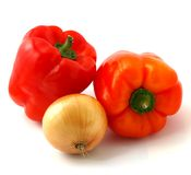 Peppers With Onion Stock Images