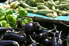 Peppers, Zuccini and Aubergines Royalty Free Stock Images