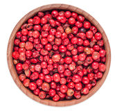 Peppertsogns in a wooden bowl Royalty Free Stock Photo