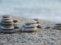 Pepple balance beach Royalty Free Stock Photo