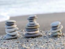 Pepple równowagi plaża Fotografia Royalty Free