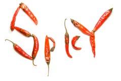 peppra rött kryddigt Arkivfoton