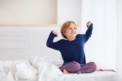 Free Peppy Young Boy Waking Up In The Morning Royalty Free Stock Photo - 86604735