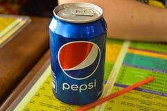 Pepsi can - Blue box royalty free stock photos