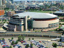 Pepsi Center Arena in Denver, Colorado. The arena is home to the Denver Nuggets of NBA, the Colorado Avalanche of NHL and the Colorado Mammoth of the National royalty free stock photo