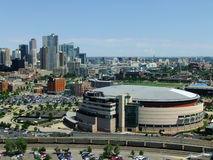 Pepsi Center Arena in Denver, Colorado. The arena is home to the Denver Nuggets of NBA, the Colorado Avalanche of NHL and the Colorado Mammoth of the National stock image
