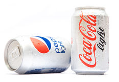 Pepsi and Coca Cola Products Royalty Free Stock Images