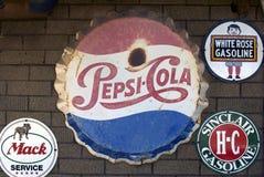 Pepsi-cola tecken Fotografering för Bildbyråer