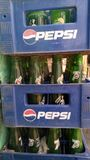 Pepsi Crates. With glass bottles in them Stock Image