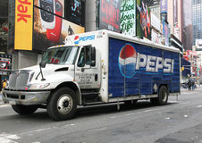 Pepsi Delivery Truck. At Times Square in NYC Stock Image