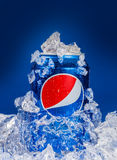 Pepsi embedded in ice Stock Photography