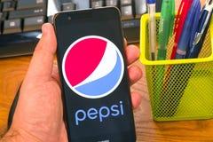 Pepsi logo on mobile
