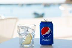 Pepsi puede en Portugal Fotos de archivo libres de regalías