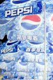 Pepsi umbrellas Stock Photos