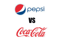 Pepsi VS Coca Cola Brand Logo Stock Photography