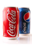 Pepsi vs. Coke: 12 Ounce Cans Stock Photography
