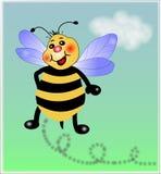 Pequeña abeja en el cielo libre illustration