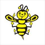 Pequeña abeja feliz. Fotos de archivo libres de regalías