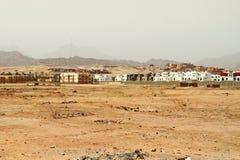 Pequeña aldea en las montañas de Sinaí Imagenes de archivo