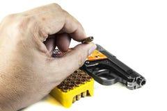 Pequeña arma de mano 6 35 milímetros Imagen de archivo libre de regalías