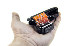 Pequeña arma de mano 6 35 milímetros Imagen de archivo
