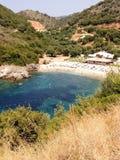 Pequeña bahía en Sivota, Epirus Foto de archivo