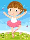 Pequeña bailarina linda. stock de ilustración