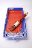Pequeña bandeja del rodillo de pintura Imagen de archivo libre de regalías