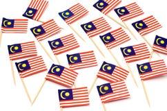 Pequeña bandera de papel de Malasia Imagen de archivo libre de regalías