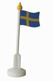 Pequeña bandera sueca de la tabla Fotografía de archivo libre de regalías