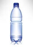 Pequeña botella de agua plástica simple ilustración del vector