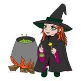 Pequeña bruja Foto de archivo